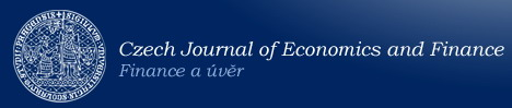 Logotype - web site Czech Journal of Economics and Finance